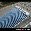 Solar Keymark certificated non pressure vacuum tube solar collector