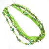 New Design Summer Green Bead Necklace Fashion Long Necklace Vners
