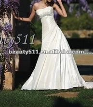 2012 hot style strapless a-line wedding dress D851