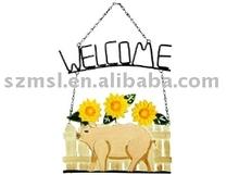 Métal signe de bienvenue pour jardin