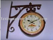 antique metal art wall clock