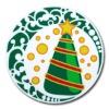 Christmas Tree PVC Cup Coaster