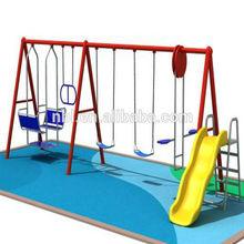 2014 hotsale children plastic swing and slide sets