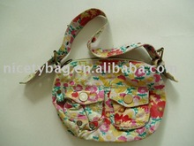 High quality of round canvas tote bag(CVB 056)
