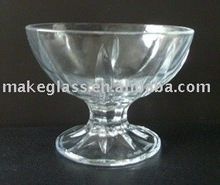 high-quality clear round glass icecream bowl with any logo or color can be done