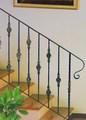 decorativos de hierro forjado barandilla de la escalera