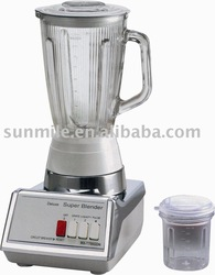 Blender with 350W Motor, 1,400mL Large Capacity Glass Jar with Adding Ingredient Cap