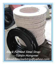 China Suplier Black ,Gray painted &Waxed steel packing strip