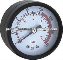 back connection pressure gauge
