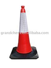 Plastic Traffic Cone (Rubber Base)