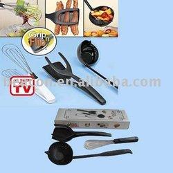 grip n flip,nylon kitchen tool,scoop n strain