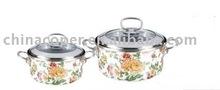 Porcelain enamel non-stick pot-enamel cookware