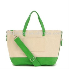 Canvas Diaper Bag - Kelly Green