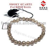 Eye Clean Plain Smokey Quartz Bead