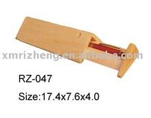 Triangle wooden box, pen box
