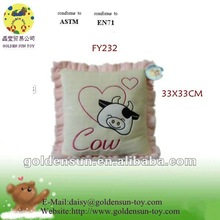 Use for Valentine's day ! Animal embroidered cushion