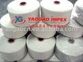 Reciclaje de algodón hilado para tejer guantes, hilados de extremo abierto