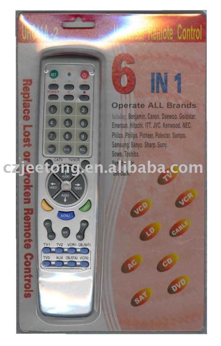 Universal Remote Control Codes