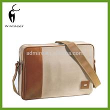 Men's Leather Shoulder/Messenger/Document/Satchel Shoulder Laptop Briefcase Bag-G009