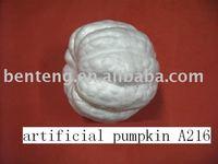 2013 promotional decorative foam halloween plastic white pumpkins