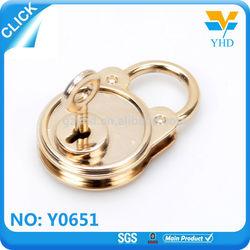 High quality professional zinc alloy gold wedding key custom brass padlock