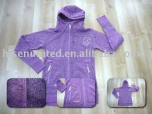 Thermal Fleece Jacket, Sports Clothing, Melange Fleece