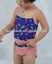 Bikini style fish world kid's swimwear