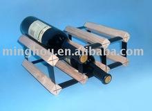 6 bottle wooden wine holder with natural color,bar furniture