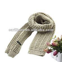 ladies fashion knit winter scarf 2012