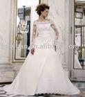 plain satin wedding gown 2012