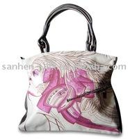 Women's Handbag, Measures 42 x 35 x 7cm, Made of Canvas and PU