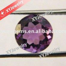 Semi-precious Gems Medium Purple Round Cut Natural Brazil Amethyst