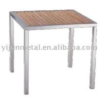 Stainless steel teak outdoor table