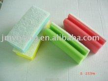 Color grip sponge scourer