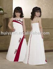 2012 spaghetti strap white/red new style kid wear