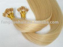 Pre-bonded Hair extension/keratin hair extension/stick hair extension/100% human hair/