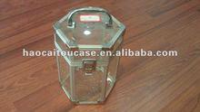 Tranparent aluminum cosmetic case, handle case, gift box very popular