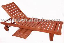 (W-D-1205) high quality wooden sun lounger