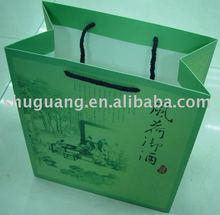 Custom Wine Carrier Paper Bag (SGZ199)