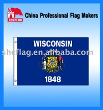 Wisconsin State Flag/State flying banner