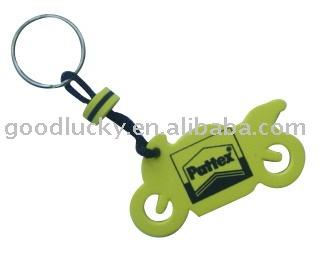 Motorcycle design promotional gifts EVA keychain