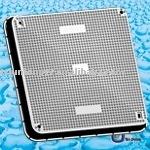 Smc cubierta de boca BS EN124 750 mm x 750 mm D400 / cuadrado cubierta de boca