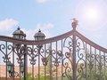 Puerta de hierro forjado