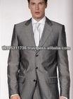 Silver Grey 100% Cashmere Gents Suit