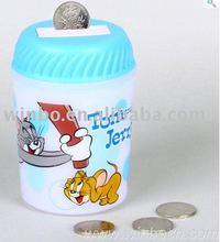 music cartoon plastic kids coin bank money box