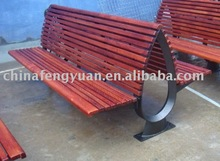 Outdoor Bench With Plastic Wood and Metal Frame