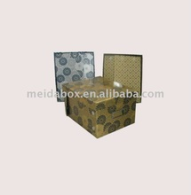 Foldable paper DVD box