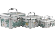 Large capacity printed cosmetic aluminum box