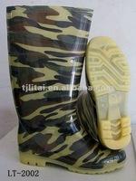 camflouge fashion pvc welly shoes 2012