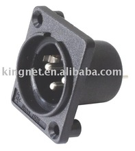 XLR plastic chassis mount connector / panel mount connector / pcb mounting connector